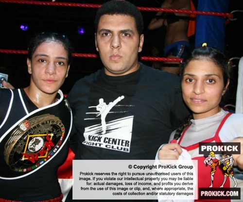 Nora Anwer won the Malta world cup pictured here with her belt and team members