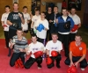 Kicboxing Fun Day For Senior Members - pictured are the happy kickboxers at their last class before the Xmas break