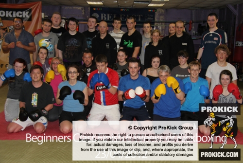 Another packed beginners class finished on the 23/04/2012 at ProKick Gym, east Belfast