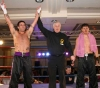 Adrian Moat wins his debut fight at the Hilton hotel