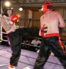 Gary Fullerton kicks back at light welterweight Julien Aeschlimann