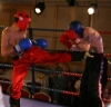 Robert McNeil (N. Ireland) Vs Hakim Benhounette (Switzerland)  - The Swiss fighter Hakim lands a good back kick