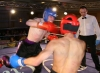 Belfast's Robert McNeill tries a jumping punch In a non-stop kickboxing action bout with Swiss Fighter Hakim Benhounette