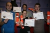 Yellow belt kickboxers advance to the next Level, orange belt from the Friday advance beginners hit the mark as they pass the first level