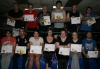 kickboxers from the Friday advance beginners hit the mark as they pass the first level