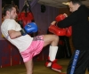 Gary Practicing his Knee strikes ahead of his Muay Thai bout in Turin, Italy this weekend