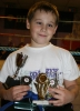 LEith Braiden with his winning trophies