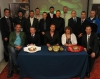 All the fighters gather for the kickboxing Press launch with Deputy Mayor Patricia Logue.