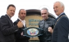 Belfast's Billy Murray, BBC's Joe Lindsay,  WKN President Stephane Cabrera and Mayor Drew Thompson at the Millennium Forum in Derry City