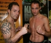 Ian Young (Right) NI Vs. Uwe Menzzer Germany - ahead of the big fight at the weigh