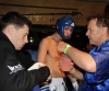 ProKick's Andrew Duffin readies up in his corner before his first boxing fight in Kilkenny