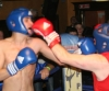 ProKick's Andrew Duffin takes a hard shot in his first boxing fight in Kilkenny