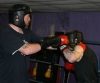 Big James 'Goliath' Gillen spars with Wayne McCormick at the ProKick gym in east Belfast