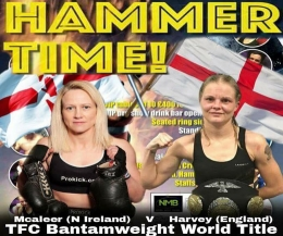 Cathy McAleer is gunning for another world title and making her a three-time Martial Art world champion. McAleer will share the ring with two-time world full-contact champion Tina Harvey this Saturday 24th September 2016