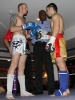ProKick's Darren McMullan facing opponent Chris Lovell before their K1 style match on 25th February 2012 in Staines, Essex.