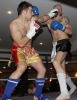 ProKick's Darren McMullan counters a hard jab from opponent Chris Lovell during their K1 style match on 25th February 2012 in Staines, Essex.