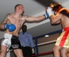 ProKick's Darren McMullan lands a hard jab on opponent Chris Lovell during their K1 style match on 25th February 2012 in Staines, Essex.