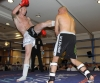 ProKick fighter Darren McMullan lands another hard kick on opponent Barry Haberland from Holland.