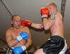 ProKick fighter Darren McMullan lands a hard punch to opponent Barry Haberland from Holland.