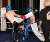 High kicking Bird was in non stop action in his bout with young Moran