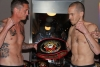 WKN British Amateur Full-Contact Title Full-Contract  Davy Foster (Left)  66kg and Scott Bryant (right) hit the scales at 65kg