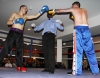 ProKick's Davy Foster touches gloves with opponent Scott Bryant on 25th February 2012 in Staines, Essex.