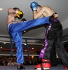 ProKick's Davy Foster in action with opponent Scott Bryant on 25th February 2012 in Staines, Essex.