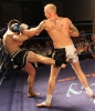 Darren McMullan (ProKick NI) exchanged blows with Greek world champion Demetris Sarantopolous at Thai-Tanic