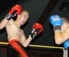 ProKick's Davy Foster covering up well as Swiss Aeschilmann takes the fight forward