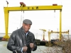 K1 Martial Arts Super Star - Ernesto Hoost hit Belfast Northern Ireland with a bang - Mr Perfect A Giant Amongst Giants, pictured at Belfast Landmark  'The Samson and Goliath Shipyard Cranes'