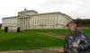 Kickboxing and K1 Super Star Ernesto Hoost looks at Stormont Buildings on his Whistle-Stop-Tour of the City of Belfast