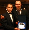 Ian Young is the 2007 ProKick Kickboxing Fighter of the Year - Ian Young with host and BBC's TV favourite Joe Lindsay