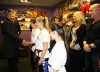 The new ProKick junior Black Belts greeting the First Minister on his visit to ProKick HQ.