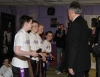Northern Ireland First Minister Peter Robinson presenting 4 ProKick Kids their Black Belts at ProKick HQ.
