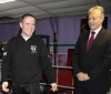 Northern Ireland First Minister Peter Robinson meets ProKick fighter and Kid's instructor Gary Fullerton.