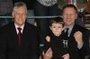 Billy Murray along with grandson and ProKick student Riley meet Northern Ireland First Minister Peter Robinson.