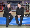 ProKick founder Billy Murray discusses the future of the sport with First Minister Peter Robinson during his visit.
