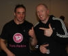ProKick fighter Paul Best poses for a shot with opponent John Mullally