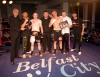 WKN top man Mr Cabrera presents the belt at the Thai-Tanic event Belfast 10th June 2012, to winner Gary Fullerton