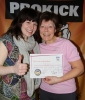 Mother and Daughter and also new ProKick Yellow Belts Astrid and Laura Thomson.