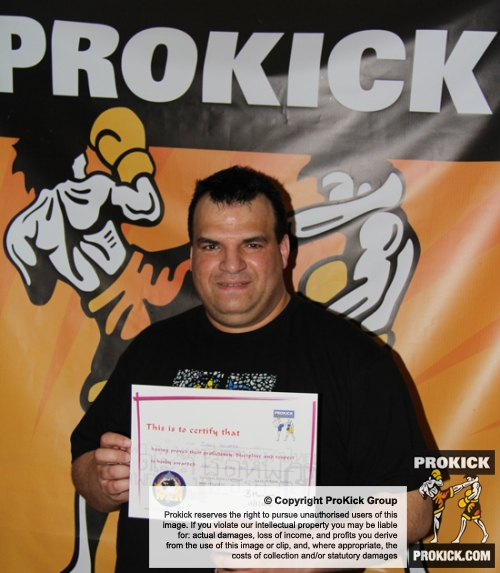 Tibor Cervenak, New ProKick Yellow Belt.