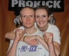 ProKick fighter Darren McMullan with sister and new ProKick Orange Belt Lyndsay.