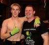 Greg Thornton with one of his team Mr John Fox - Greg was in great form after his win over Robert Regulinski by TKO