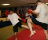Battle with a giant - Hiro kicks Giant  Miro during a spar at ProKick Belfast
