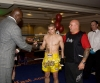 4 times K1 kickboxing Grand Prix Champion and martial arts Superstar Mr 'Perfect' Ernesto Hoost presented Kevin Eiberg of Germany with the runner-up trophy