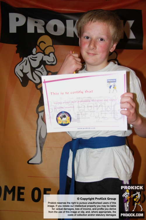Jake McCready lifts his well earned Purple Belt  - Sunday July 8th