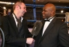BBC's TV Favourite  Joe Lindsay shares a joke with kickboxing living legend Ernesto Hoost during their interview
