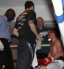 ProKick's Johnny Smith wins his first competitive boxing match on 25th February 2012 in Staines, Essex.