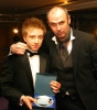 Junior kickboxer of the Year award - Ryan Dougal lifts the top spot - pictured with host TV favourite Joe Lindsay