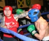 ProKick's Karl McBlain throws a hard right hook towards Kilkenny's Johnny McCabe during their boxing fight in Kilkenny